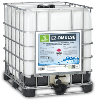 VELOCITY - EZ-DMULSE: Multi-Purpose Low-High Temp Demulsifier for Bunker/Waste Oil Treatment | Shipping and MAritime Industry Chemical Cleaning Solutions