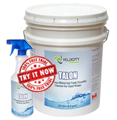 TALON - Ferrous Metal Hot Tank Powder Cleaner for Hard Water