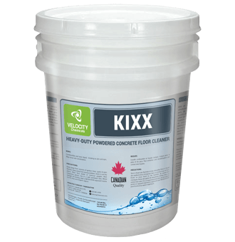 VELOCITY - KIXX: Heavy-Duty Powdered Concrete Floor Cleaner | Industrial Chemical Cleaning Solutions