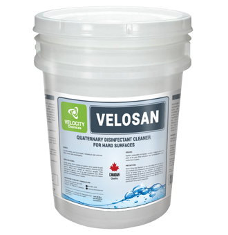 VELOCITY - VELOSAN: Quaternary Disinfectant Cleaner Hard Surfaces | Food Processing and Industry Sector Chemical Cleaning Solutions