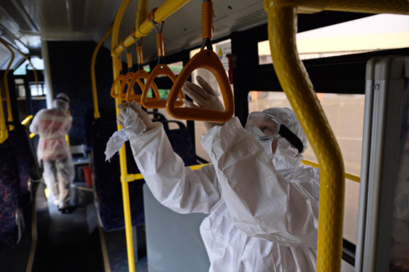 Hospitality Industry: Travel and Tourism - Buses Clean, Sanitize and Disinfect Solution
